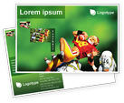 Sports: Gridiron Football Postcard Template #02030
