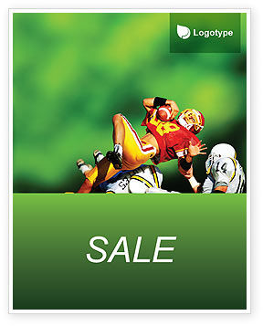 Gridiron Football Sale Poster Template, 02030, Sports — PoweredTemplate.com