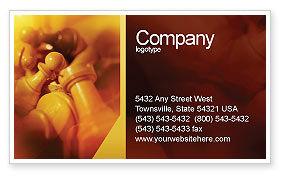 Sports: Chess Figures To Play Strategic Games Business Card Template #02033