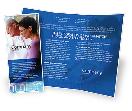 Project Management Brochure Template, 02034, Education & Training — PoweredTemplate.com