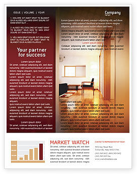 Apartment Design Newsletter Template, 02035, Careers/Industry — PoweredTemplate.com