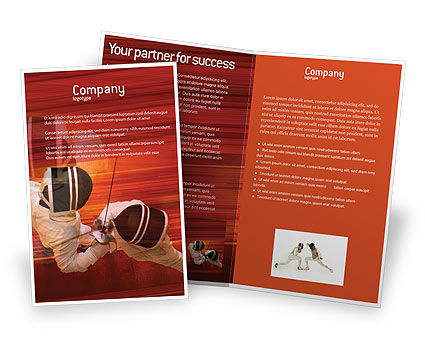 Sports: Fencing Brochure Template #02038