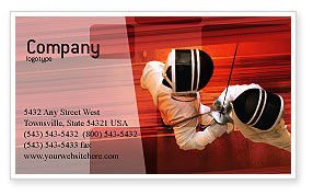 Sports: Fencing Business Card Template #02038