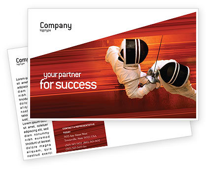 Sports: Fencing Postcard Template #02038