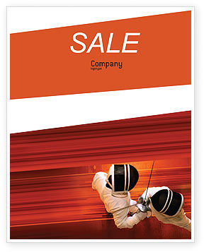 Fencing Sale Poster Template, 02038, Sports — PoweredTemplate.com