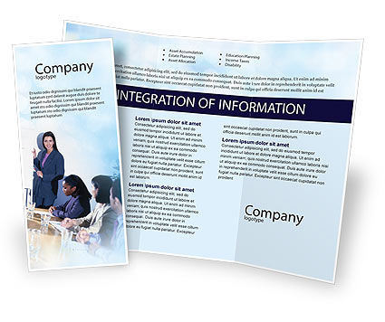 Education & Training: Presentations Brochure Template #02041