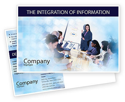 Presentations Postcard Template, 02041, Education & Training — PoweredTemplate.com