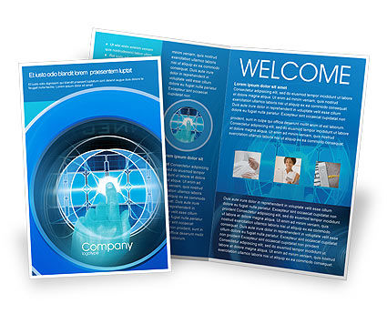 Technology, Science & Computers: Cybernetics Brochure Template #02046