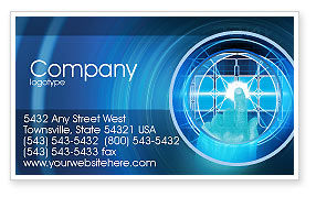 Technology, Science & Computers: Cybernetics Business Card Template #02046