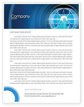 Cybernetics Letterhead Template, 02046, Technology, Science & Computers — PoweredTemplate.com