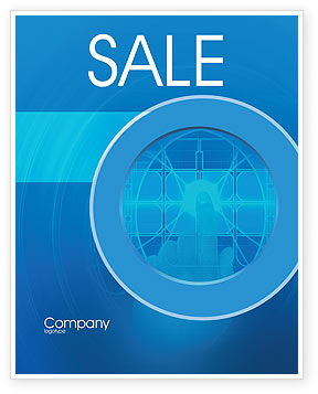 Cybernetics Sale Poster Template, 02046, Technology, Science & Computers — PoweredTemplate.com