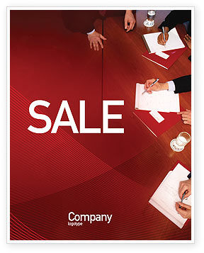 Briefing Sale Poster Template, 02048, Business — PoweredTemplate.com