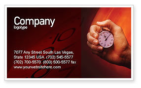 Consulting: Stop-Watch Business Card Template #02051