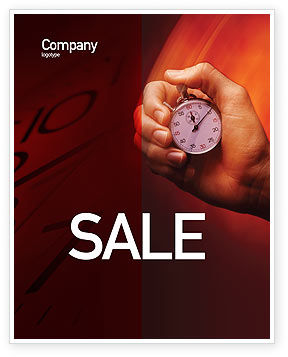 Stop-Watch Sale Poster Template