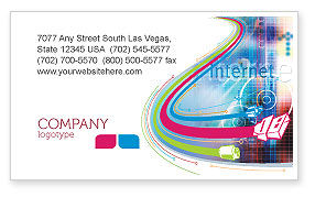 Internet Space Business Card Template, 02053, Technology, Science & Computers — PoweredTemplate.com
