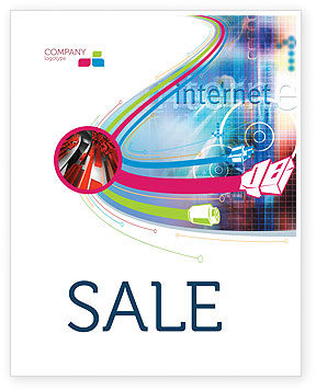 Technology, Science & Computers: Internet Space Sale Poster Template #02053
