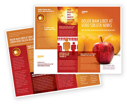 Standing Out Brochure Template, 02054, Business Concepts — PoweredTemplate.com