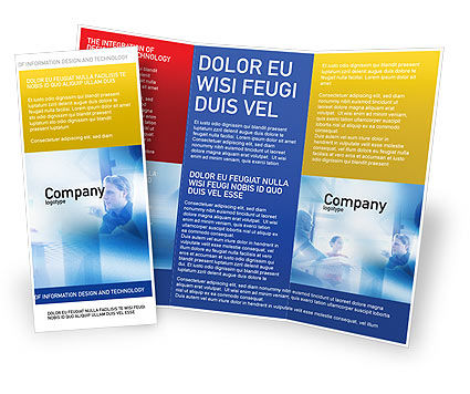 Teamwork Meeting Brochure Template, 02055, People — PoweredTemplate.com