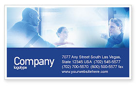 Teamwork Meeting Business Card Template, 02055, People — PoweredTemplate.com