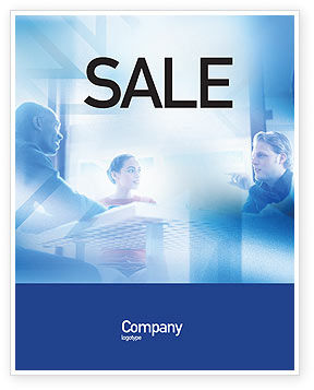 People: Teamwork Meeting Sale Poster Template #02055
