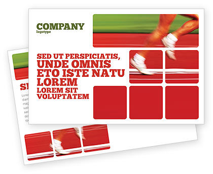 Race Postcard Template, 02056, Sports — PoweredTemplate.com