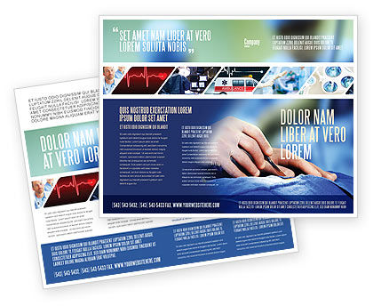 Urgent Surgery Brochure Template, 02063, Medical — PoweredTemplate.com