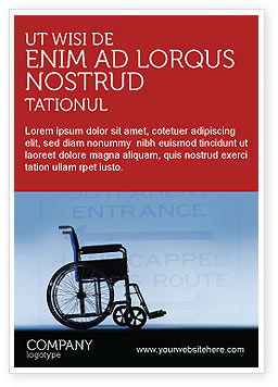 Handicapped Ad Template, 02064, Medical — PoweredTemplate.com