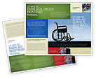 Medical: Handicapped Brochure Template #02064