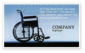 Medical: Handicapped Business Card Template #02064