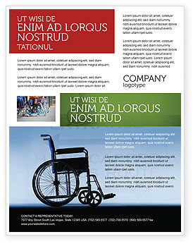 Handicapped Flyer Template, 02064, Medical — PoweredTemplate.com