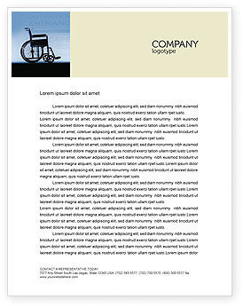 Medical: Handicapped Letterhead Template #02064