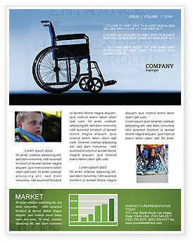 Handicapped Newsletter Template, 02064, Medical — PoweredTemplate.com