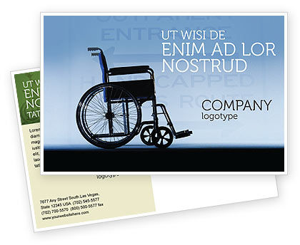 Medical: Handicapped Postcard Template #02064