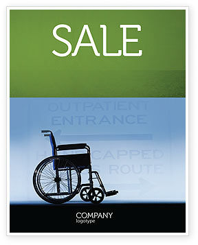 Medical: Handicapped Sale Poster Template #02064