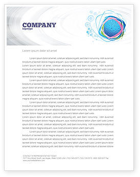 Abstract/Textures: Drops Letterhead Template #02066