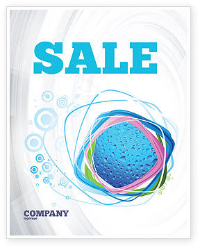 Abstract/Textures: Drops Sale Poster Template #02066