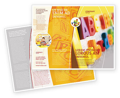 Abc Letters Brochure Template Design And Layout Download Now