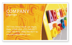 ABC Letters Business Card Template, 02072, Education & Training — PoweredTemplate.com
