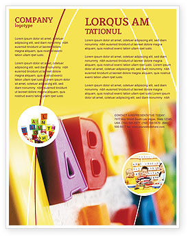 ABC Letters Flyer Template