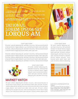 Education & Training: ABC Letters Newsletter Template #02072