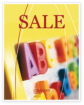 Education & Training: ABC Letters Sale Poster Template #02072