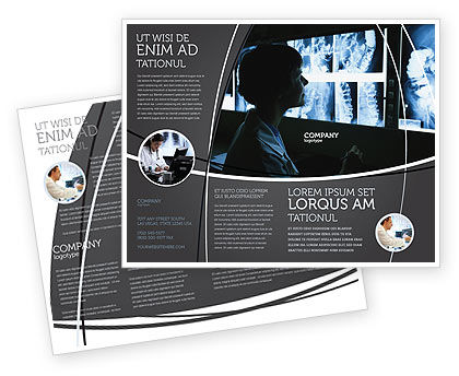 Gastroenterology Brochure Template, 02075, Medical — PoweredTemplate.com