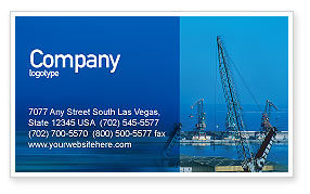 Utilities/Industrial: Port Business Card Template #02081
