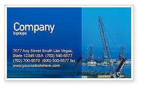 Port Business Card Template, 02081, Utilities/Industrial — PoweredTemplate.com