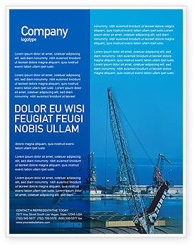 Utilities/Industrial: Templat Flyer Gratis Pelabuhan #02081