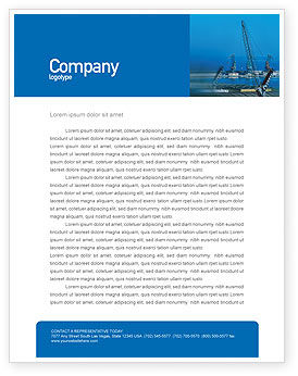 Port Letterhead Template, 02081, Utilities/Industrial — PoweredTemplate.com