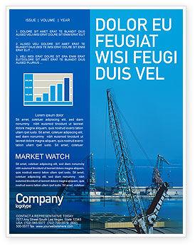 Port Newsletter Template, 02081, Utilities/Industrial — PoweredTemplate.com
