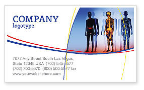 Systems of Body Business Card Template, 02086, Medical — PoweredTemplate.com
