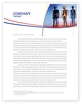 Medical: Systems of Body Letterhead Template #02086