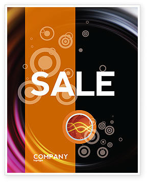 Whirlpool Sale Poster Template, 02087, Abstract/Textures — PoweredTemplate.com